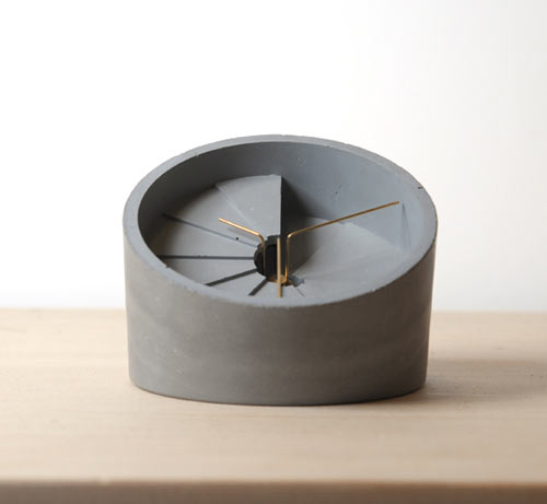 http://design-milk.com design milk conrete objects clock