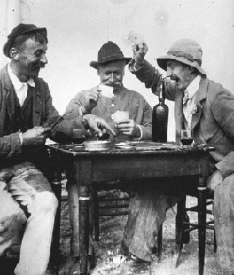 Des joueurs de cartes
