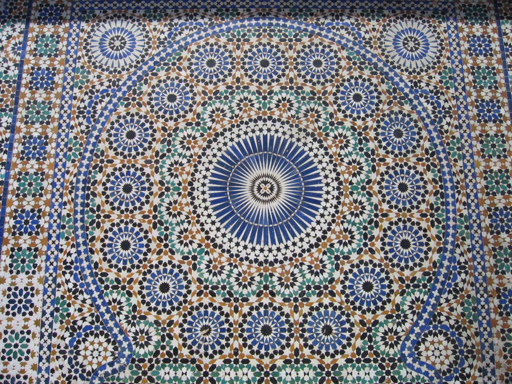 Fresque de mosaïques de la place El-Hedine.