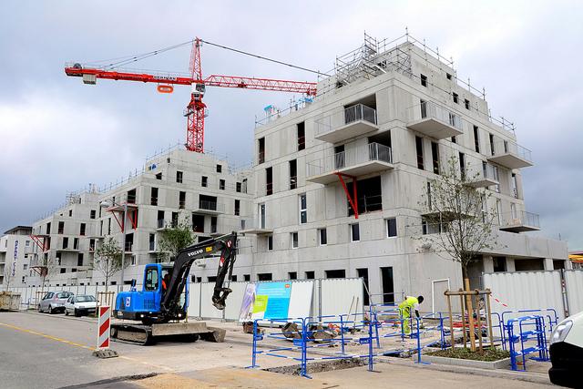 Construction de logements neufs en France.