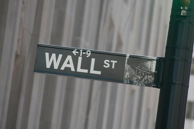 Panneau de Well Street à New York