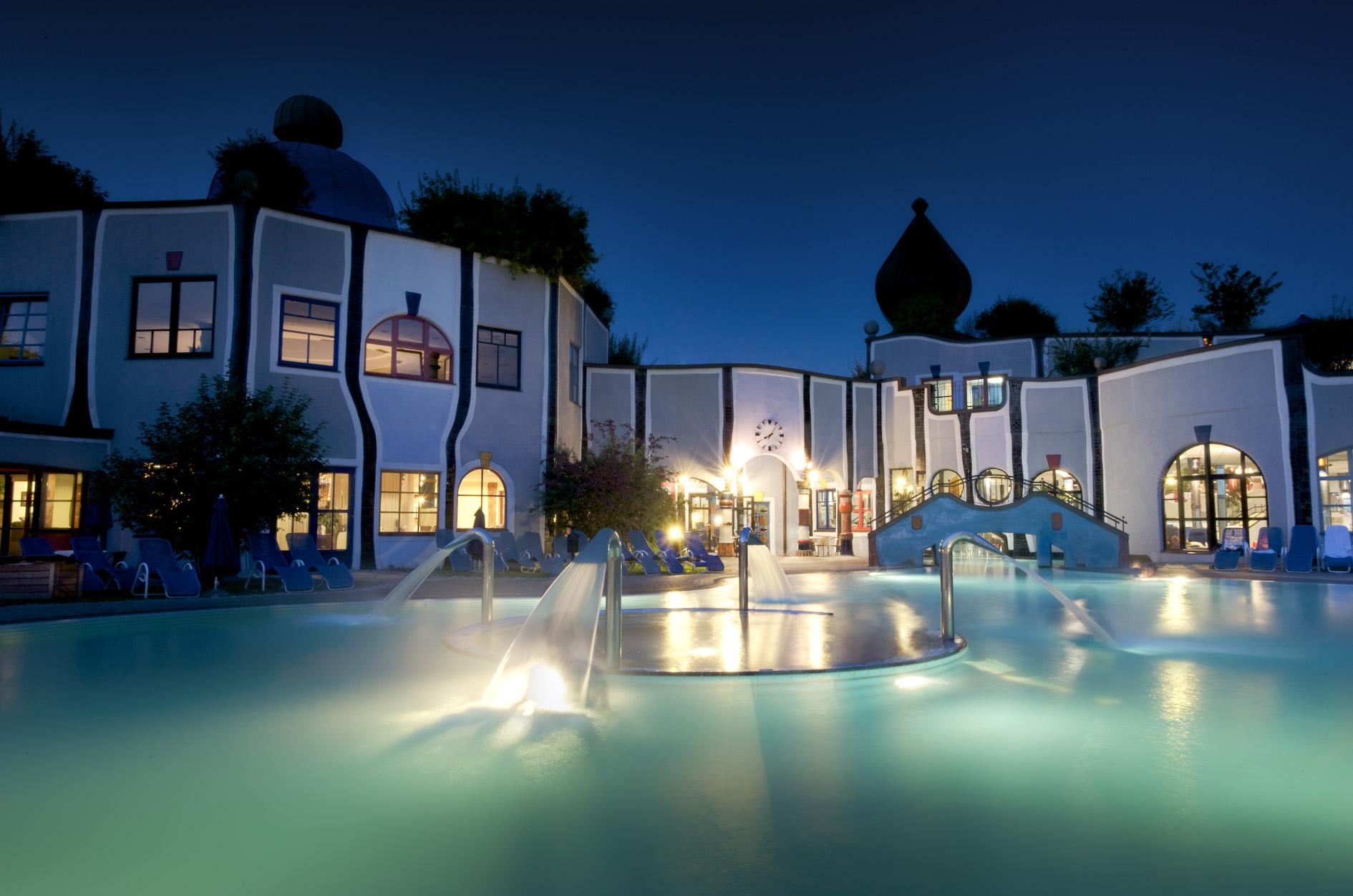 Hotel_Therme_Rogner_Bad_Blumau_Nacht