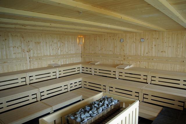 Sauna en bois.