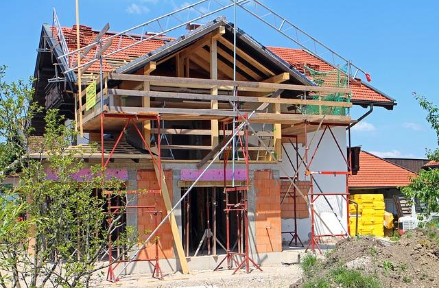 Photographie d'une villa en rénovation.
