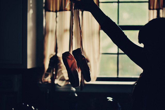 Chaussons de danse.
