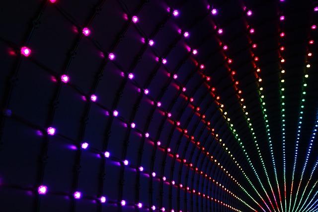 Plusieurs LED multicolores.