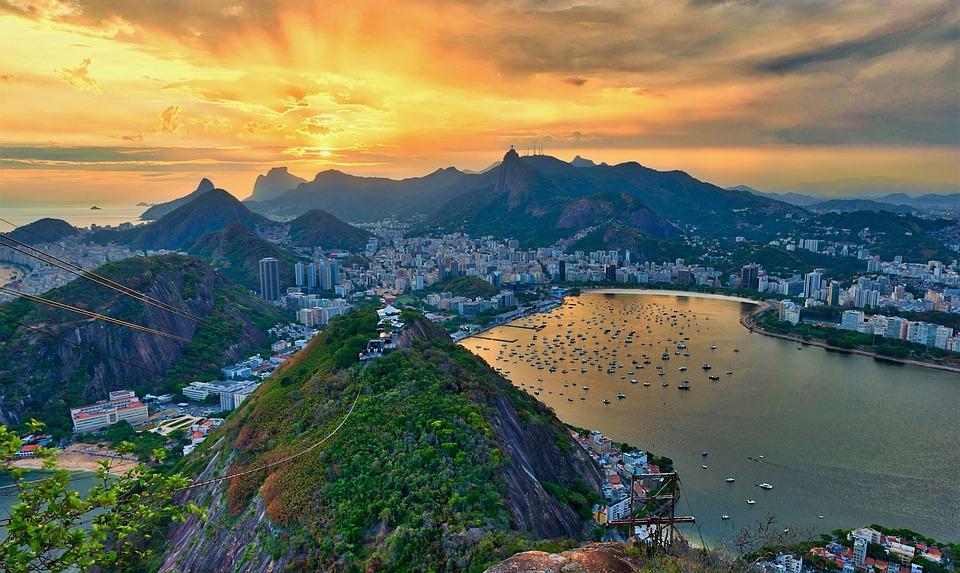 Vue sur Rio de Janeiro lors d'un séjour au Brésil.